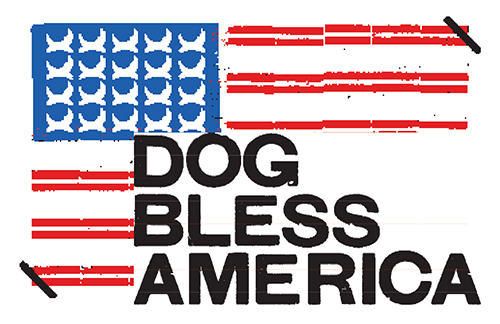 BE Bandeira Dog Bless America