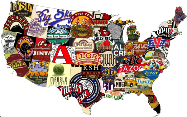 BE US Beer map