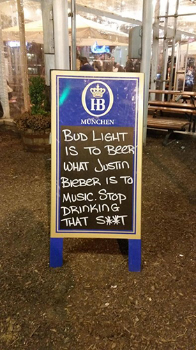 Bud Light Justin Bieber Sign