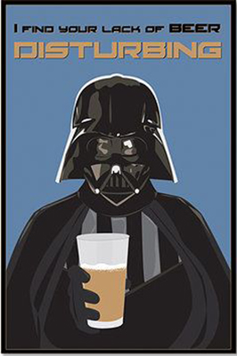 Darth Vader with beer