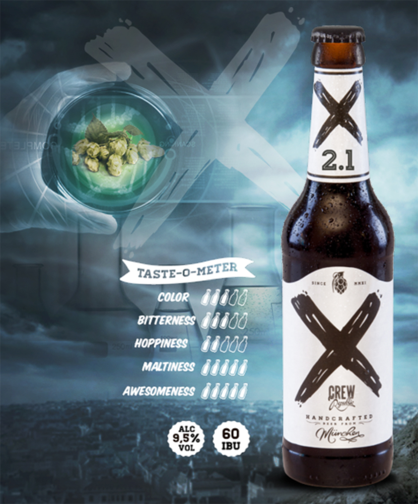 X2.1 Beer with the background