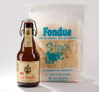 Cheese fondue with beer